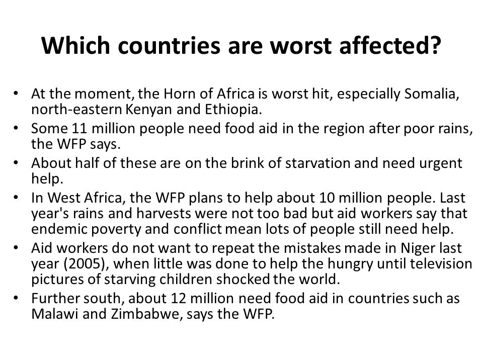 Which countries are worst affected