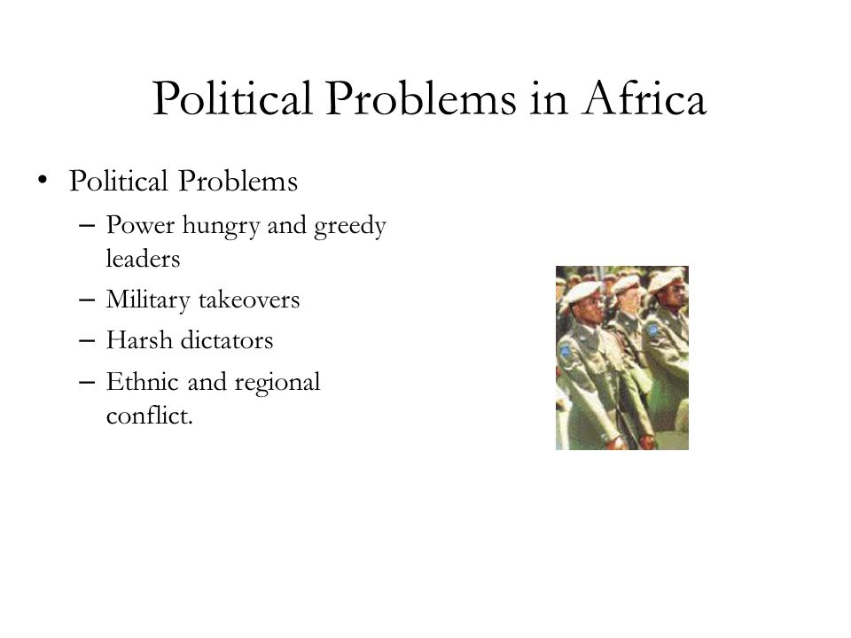 Political Problems in Africa