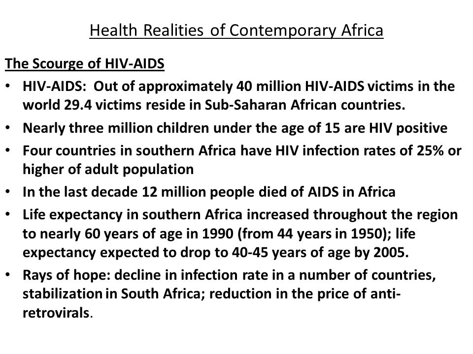 Health Realities of Contemporary Africa