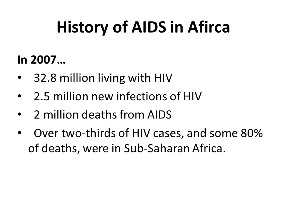 History of AIDS in Afirca