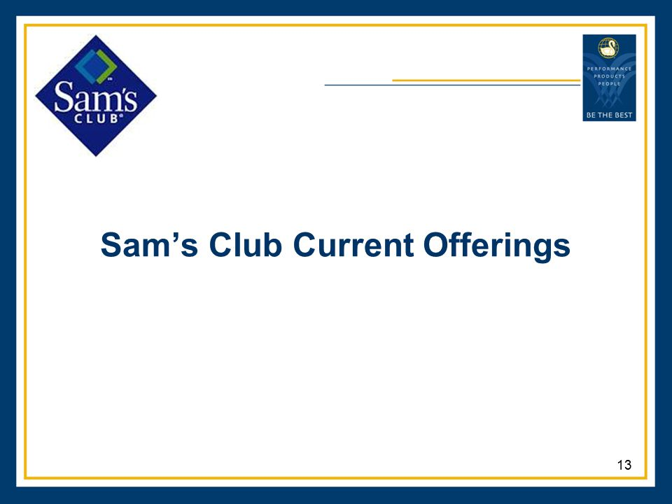 Sam's Club Current Offerings