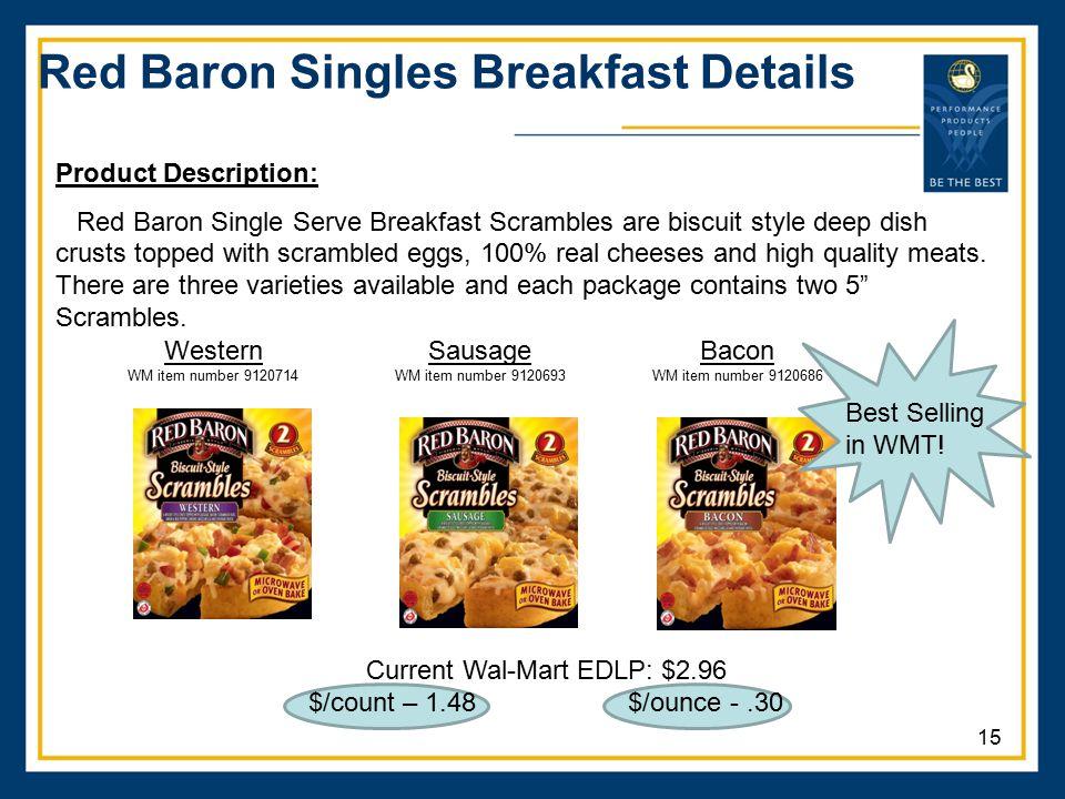 Red Baron Singles Breakfast Details