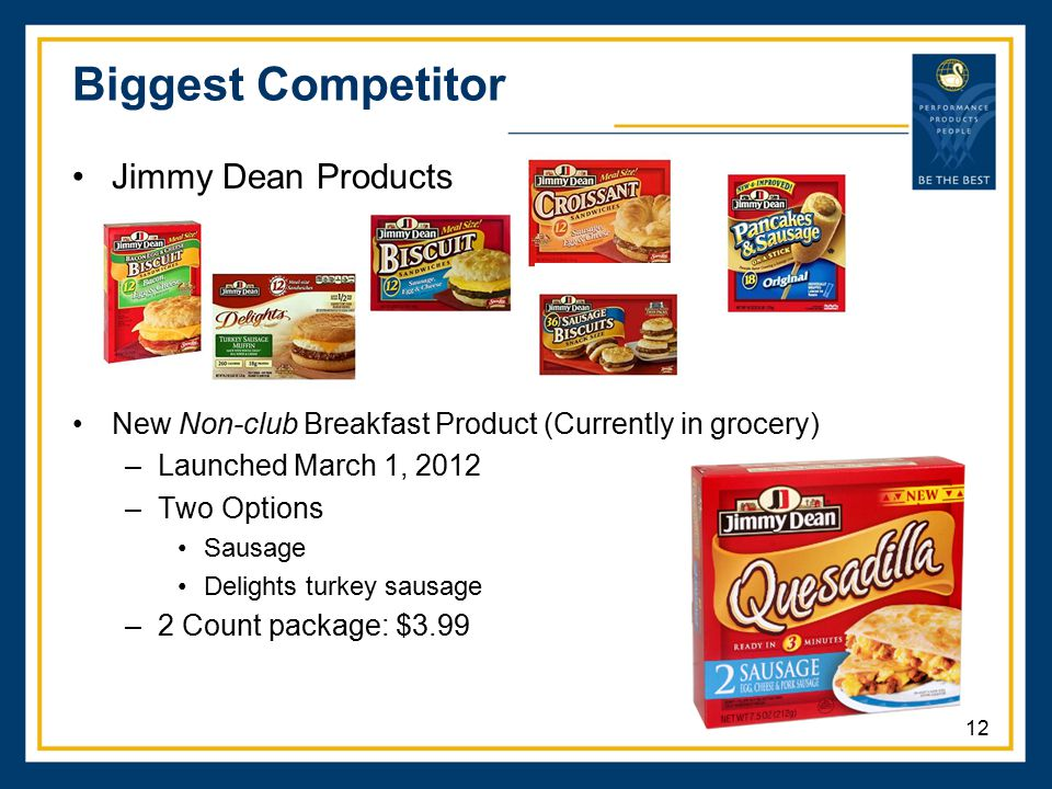 Biggest Competitor Jimmy Dean Products