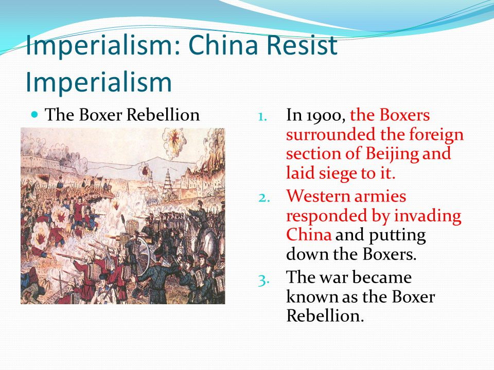 Imperialism: China Resist Imperialism