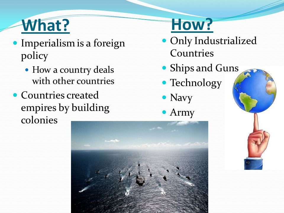 What How Only Industrialized Countries Ships and Guns Technology