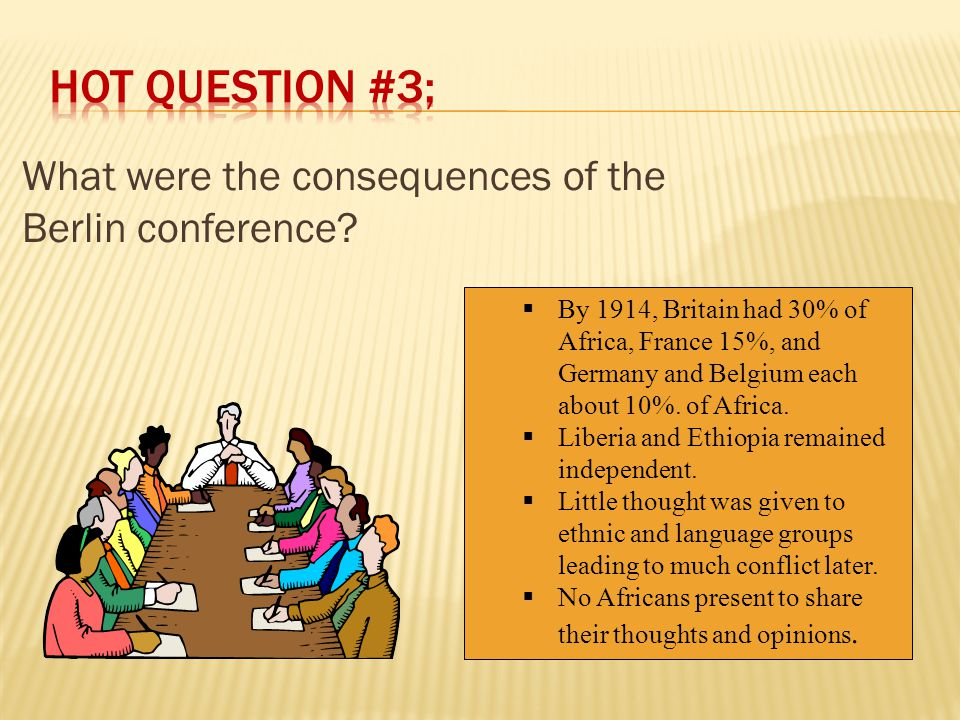 HOT question #3; What were the consequences of the Berlin conference