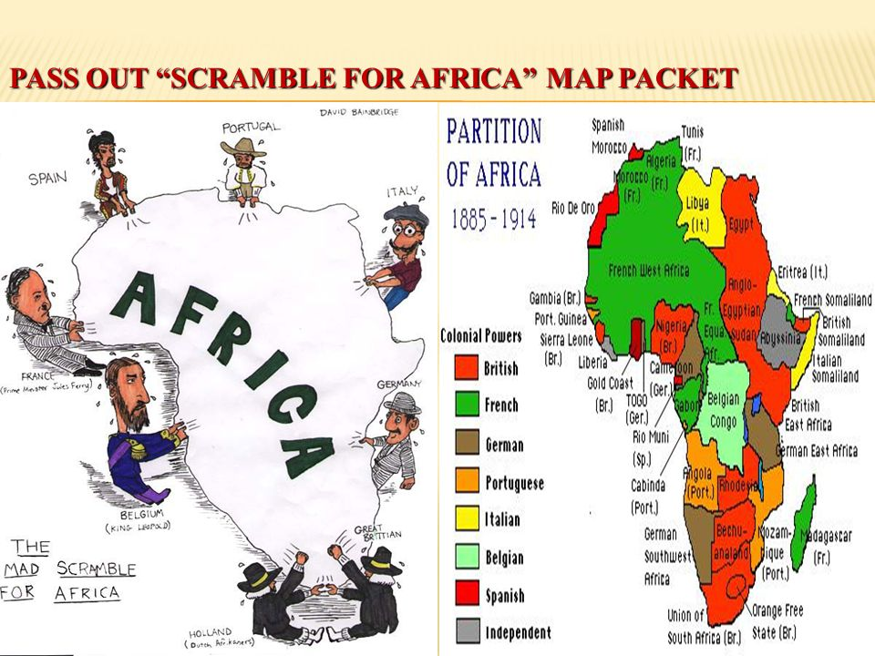 Pass out Scramble for Africa Map Packet