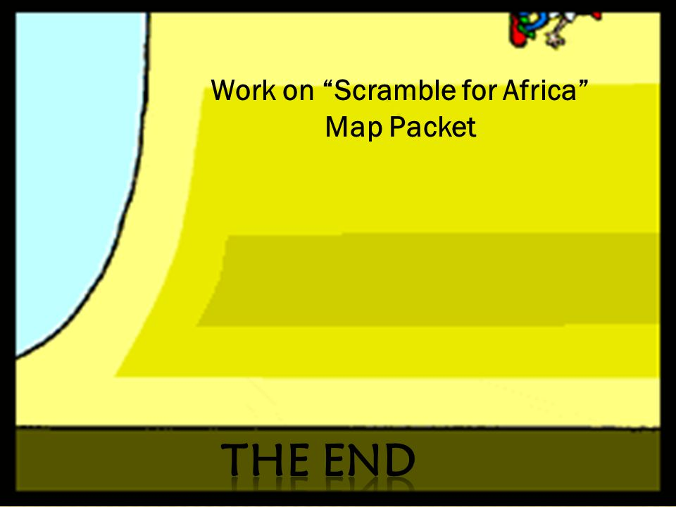 Work on Scramble for Africa Map Packet