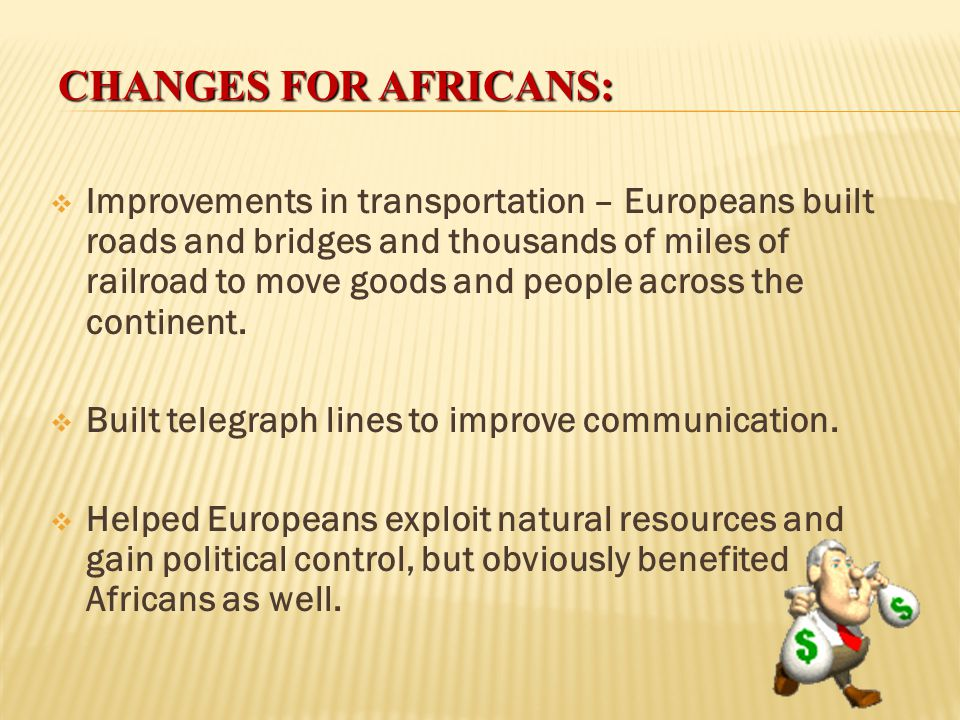 Changes for Africans: