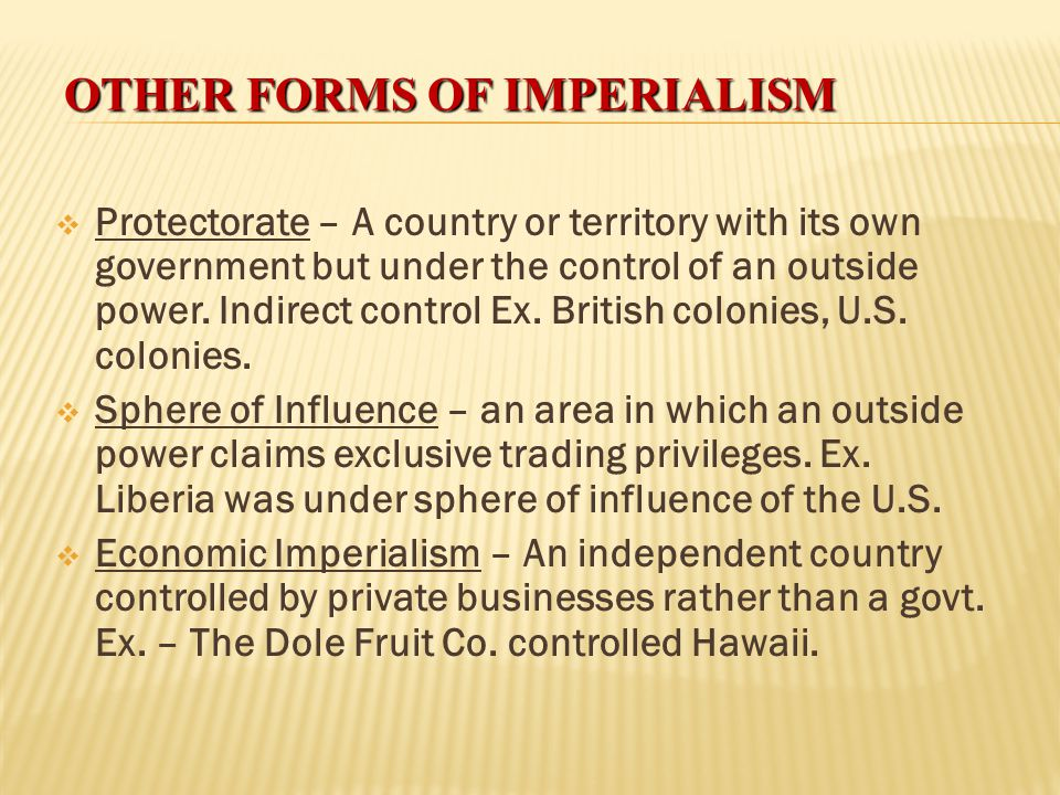 Other Forms of imperialism