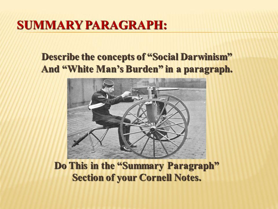 Summary Paragraph: Describe the concepts of Social Darwinism