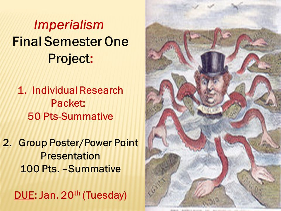 Group Poster/Power Point