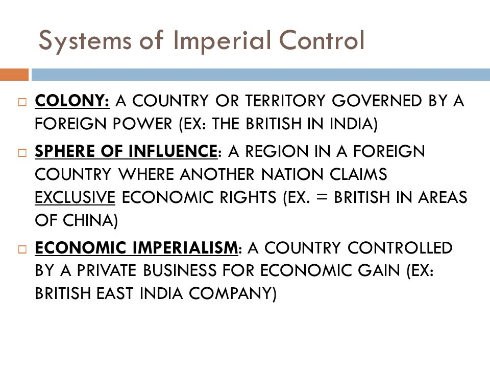 Systems of Imperial Control