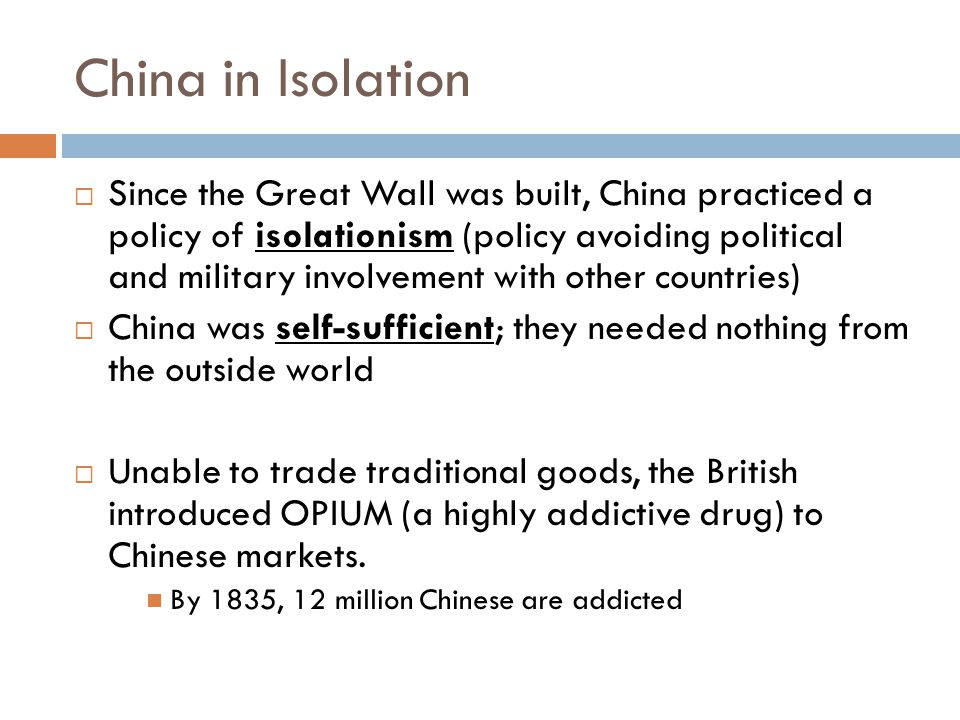 China in Isolation