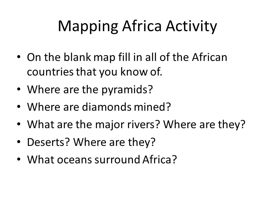Mapping Africa Activity