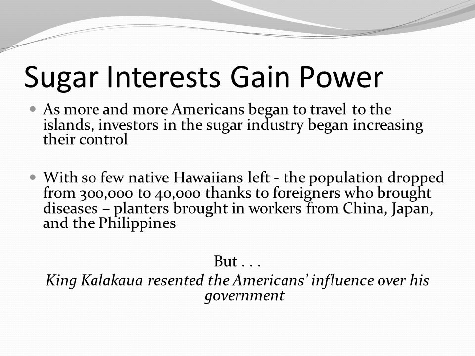 Sugar Interests Gain Power