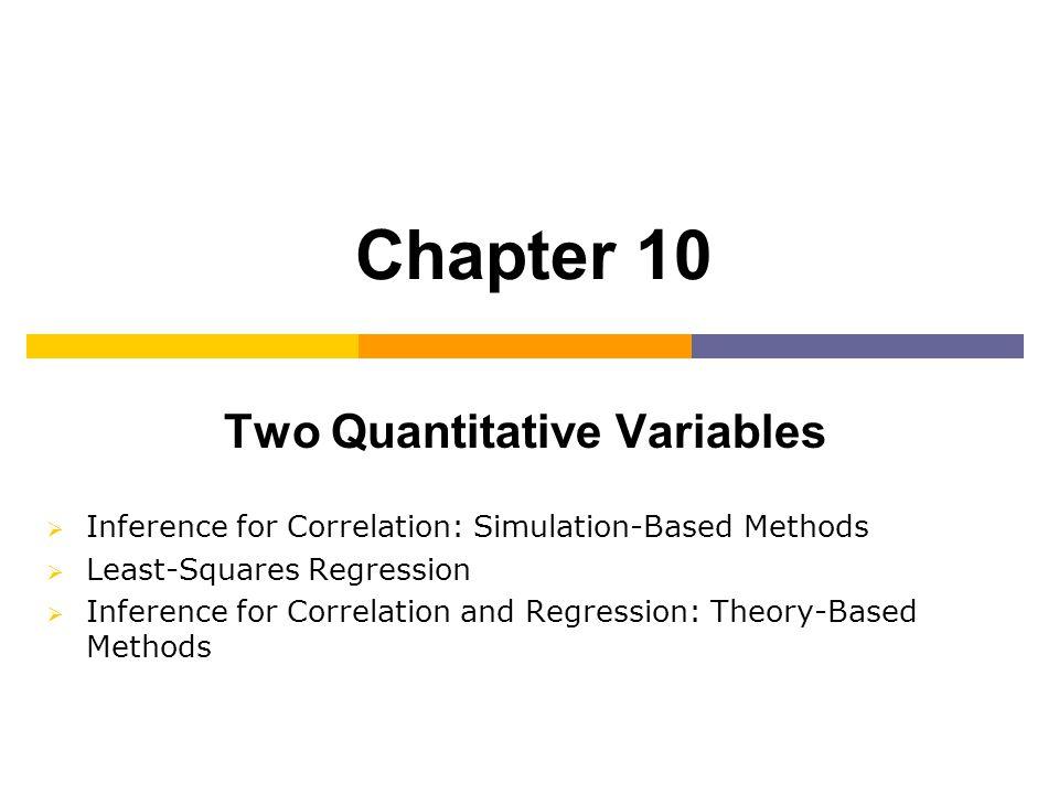 Two Quantitative Variables