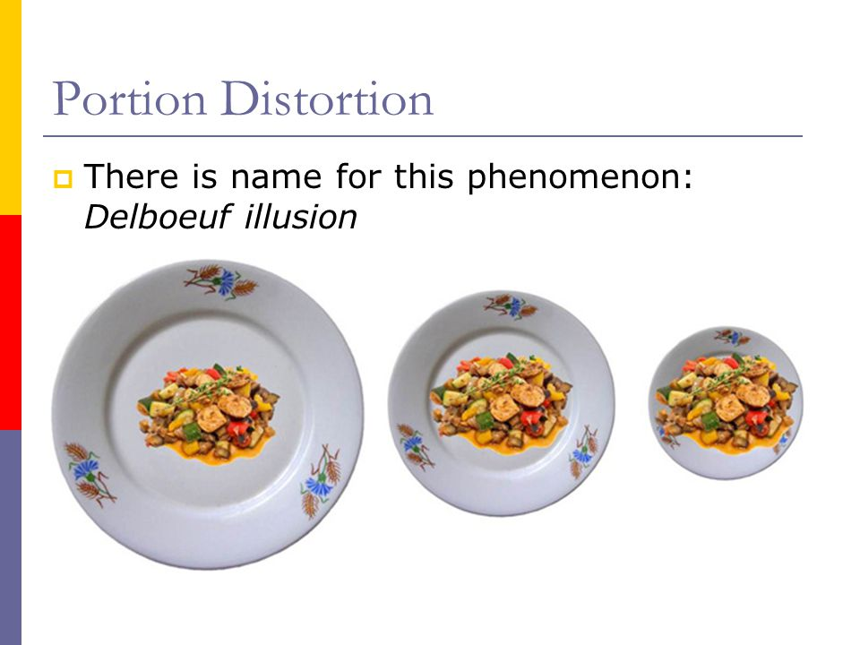 Portion Distortion There is name for this phenomenon: Delboeuf illusion