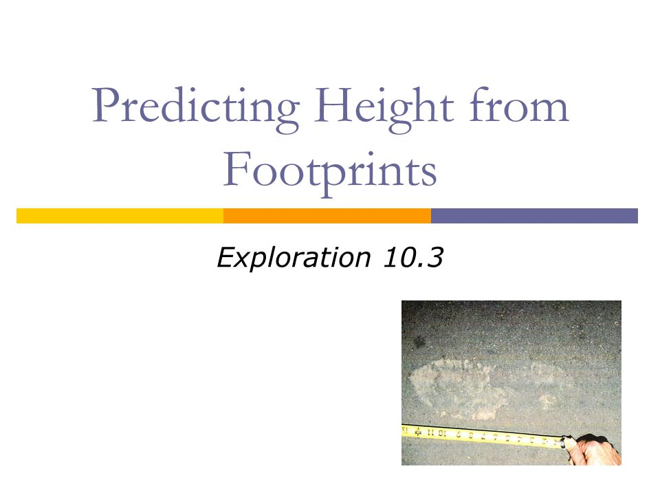 Predicting Height from Footprints
