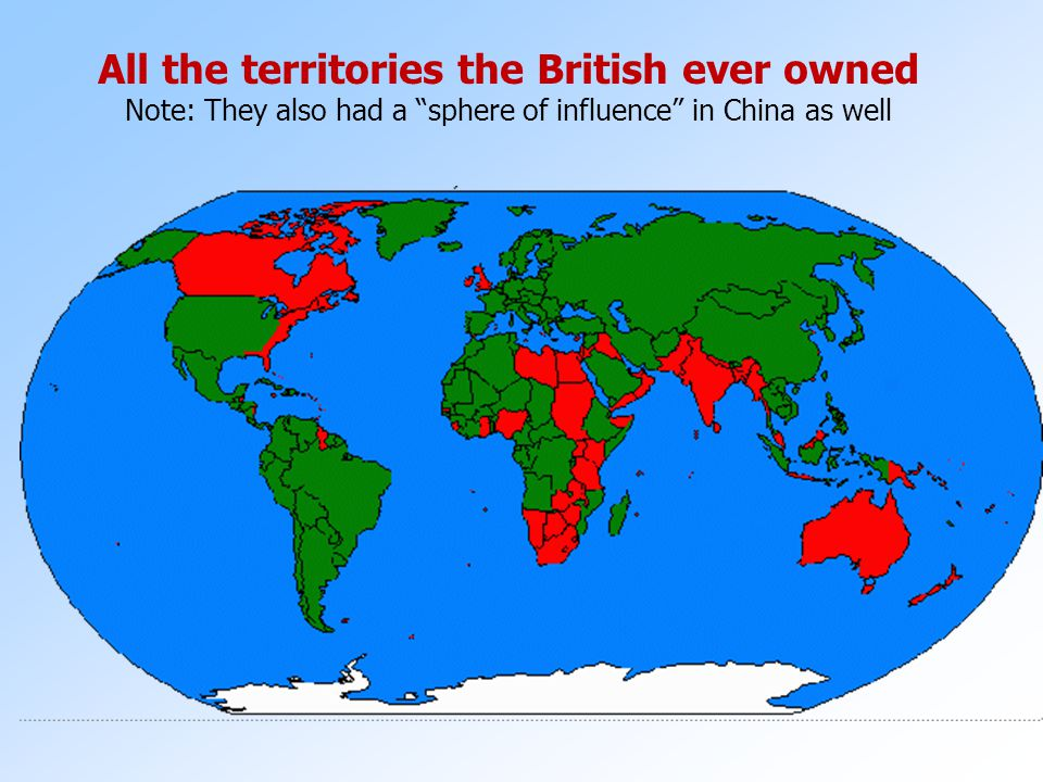 All the territories the British ever owned