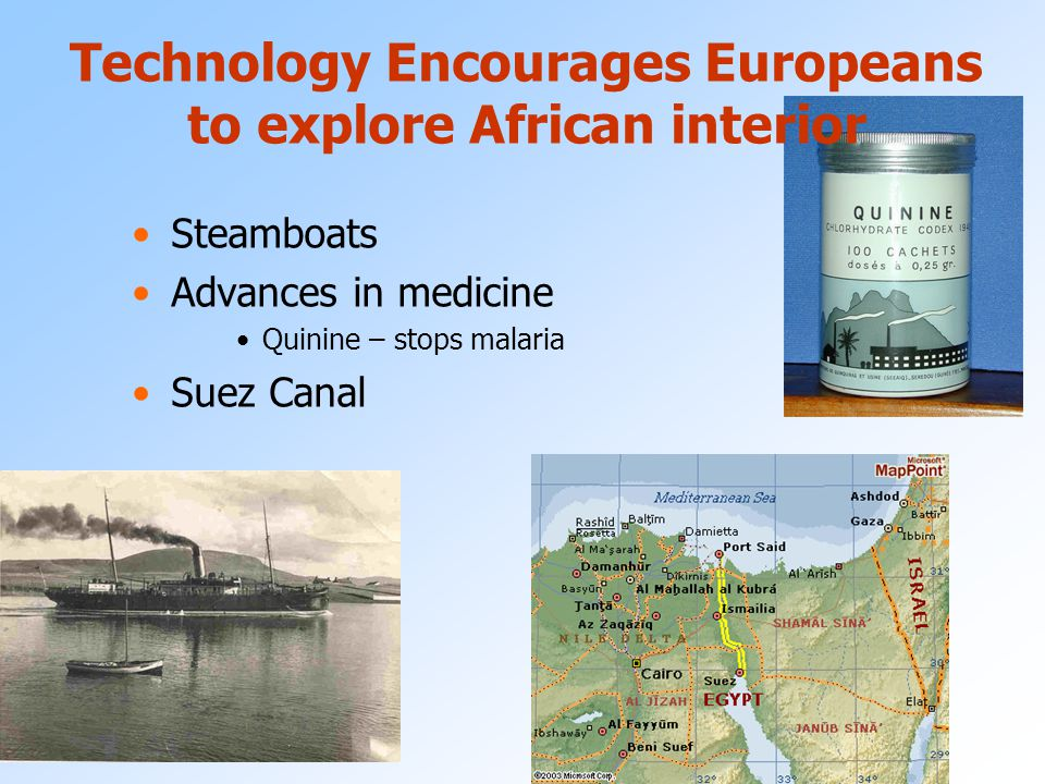 Technology Encourages Europeans to explore African interior