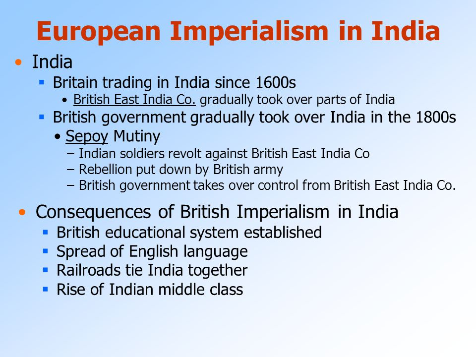 European Imperialism in India