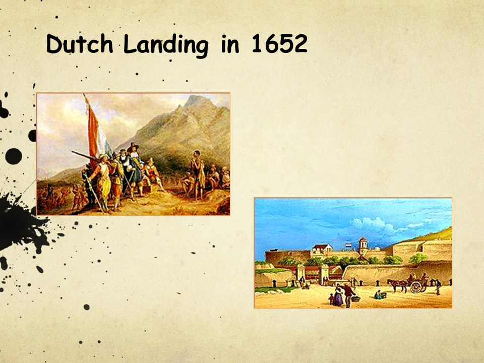 Dutch Landing in 1652