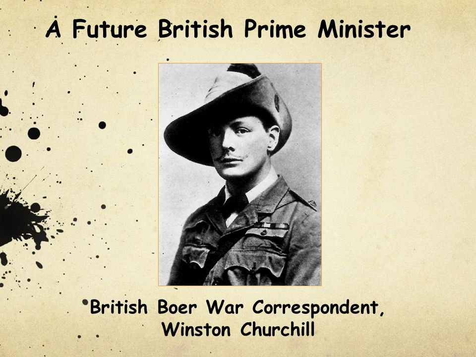 British Boer War Correspondent, Winston Churchill