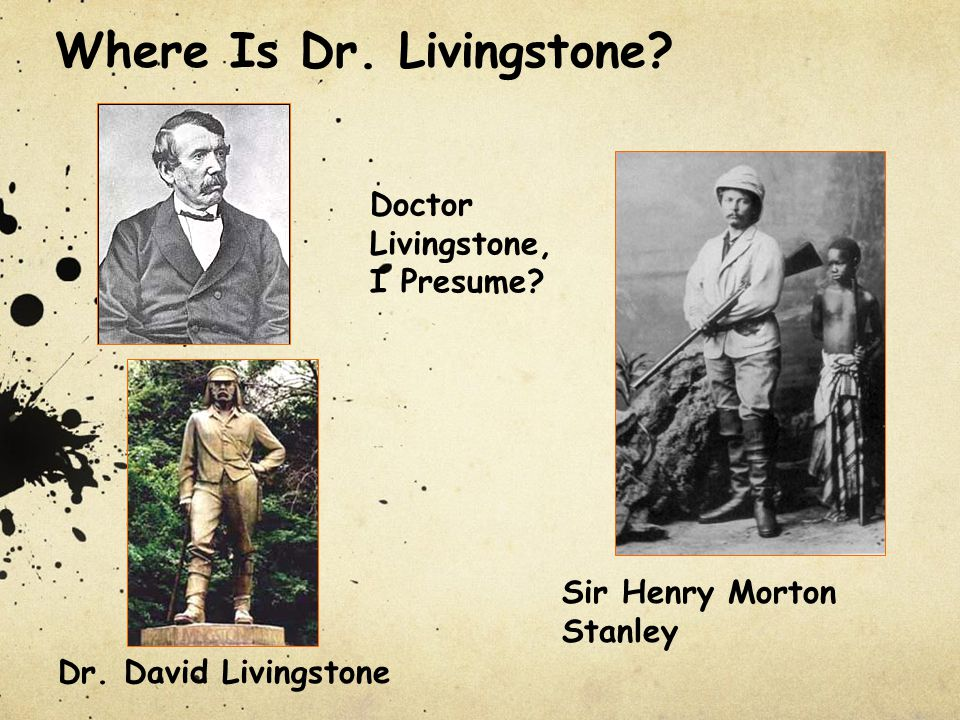 Where Is Dr. Livingstone