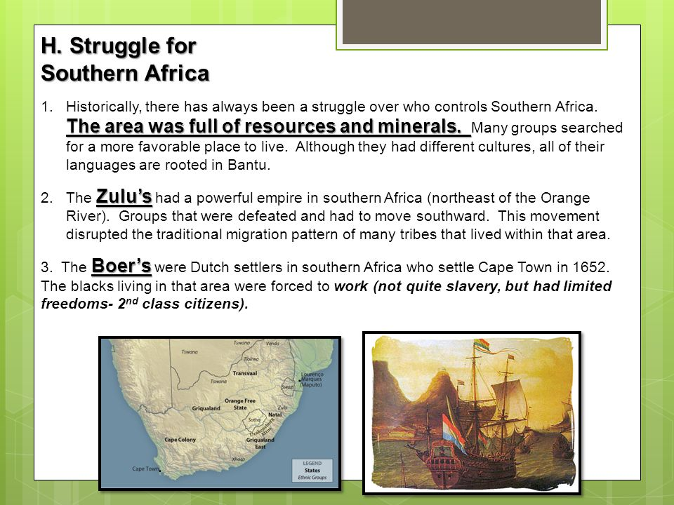 H. Struggle for Southern Africa