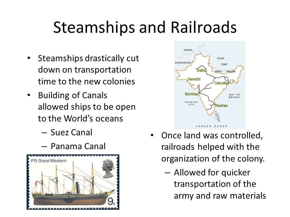 Steamships and Railroads