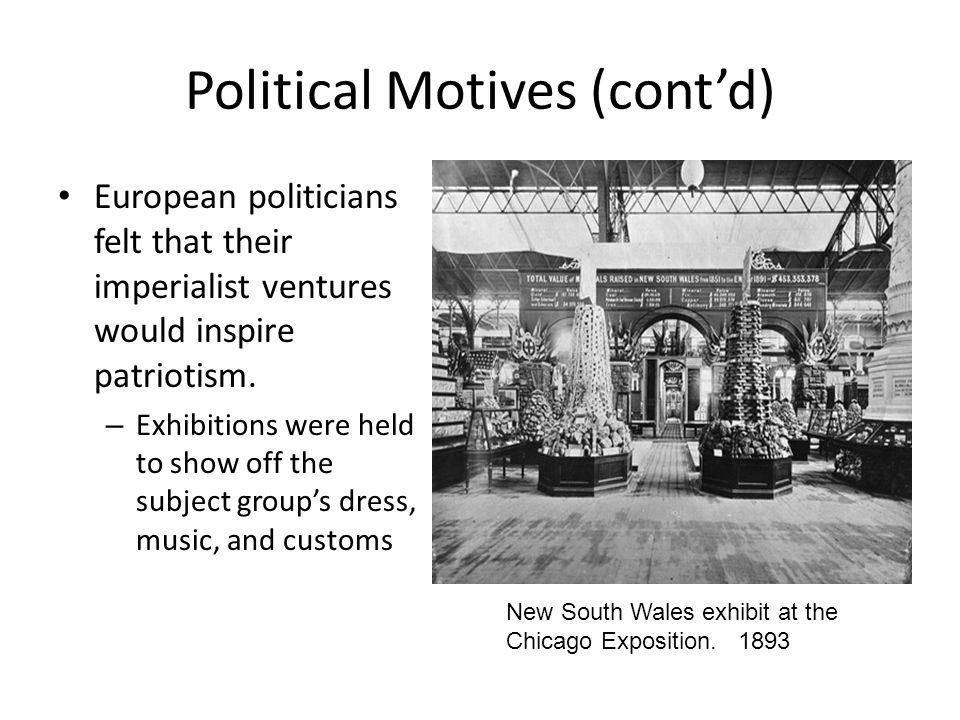 Political Motives (cont'd)