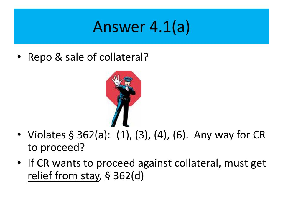 Answer 4.1(a) Repo & sale of collateral