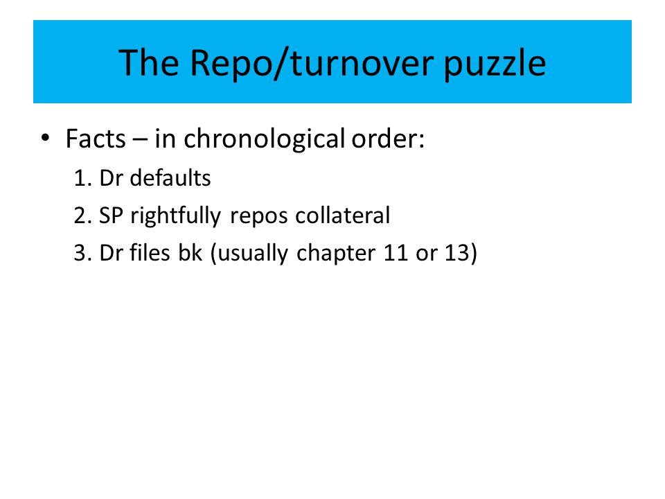 The Repo/turnover puzzle