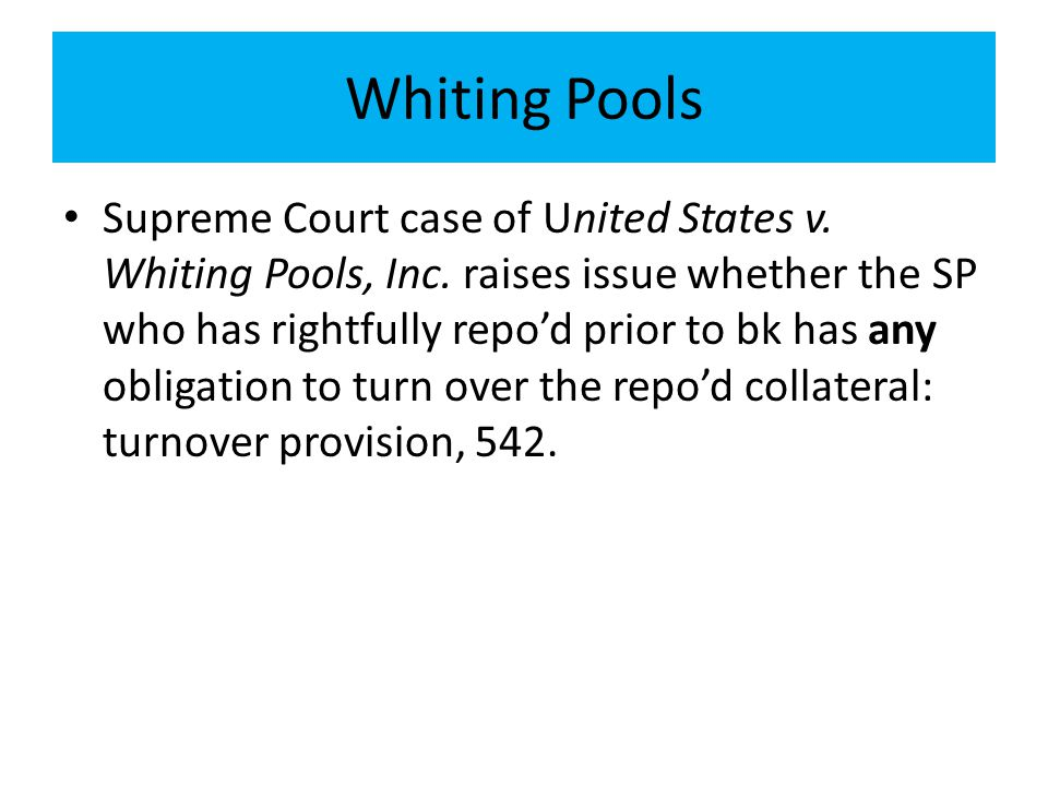 Whiting Pools