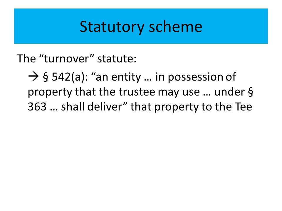 Statutory scheme