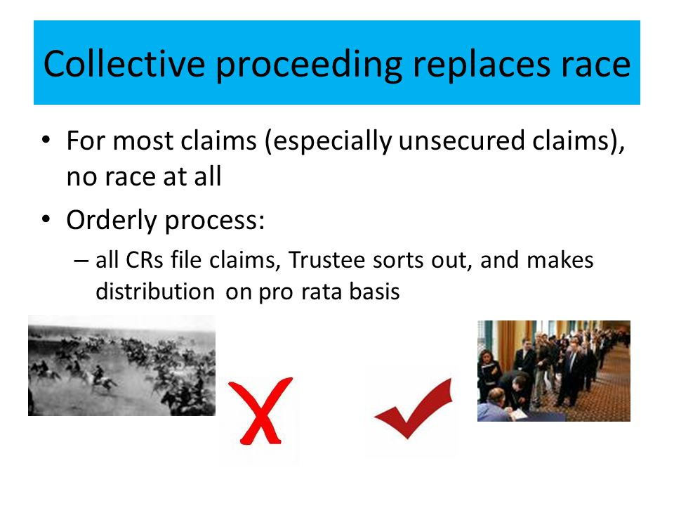 Collective proceeding replaces race