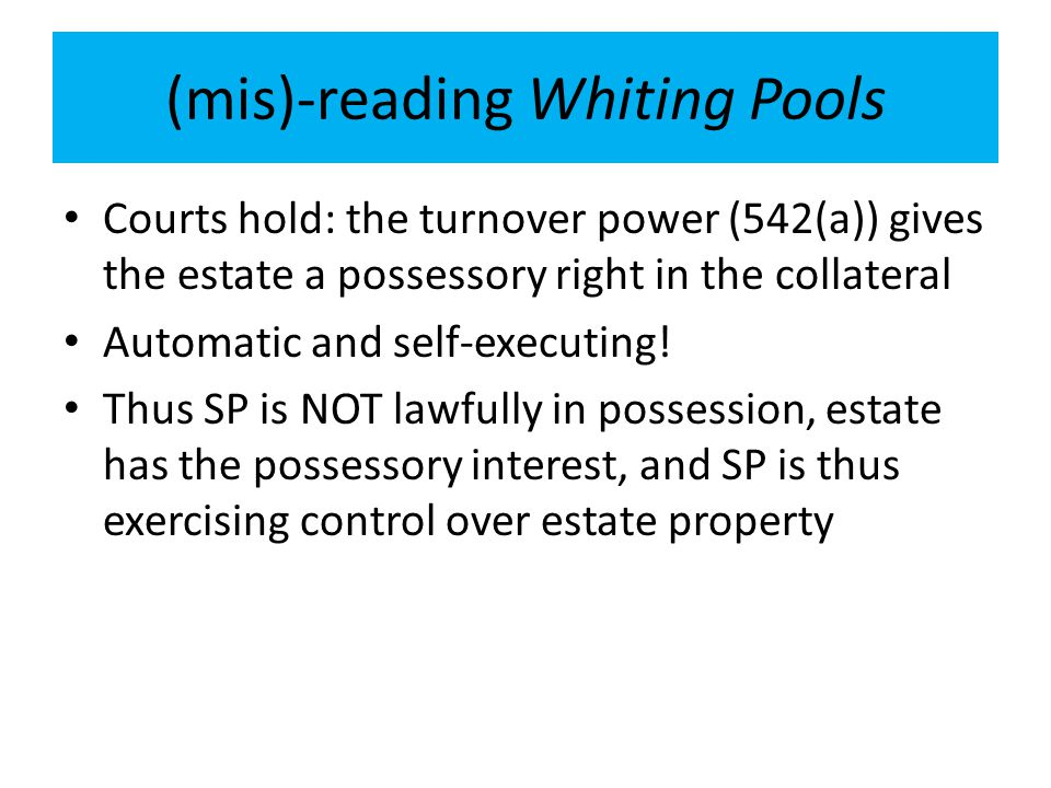 (mis)-reading Whiting Pools