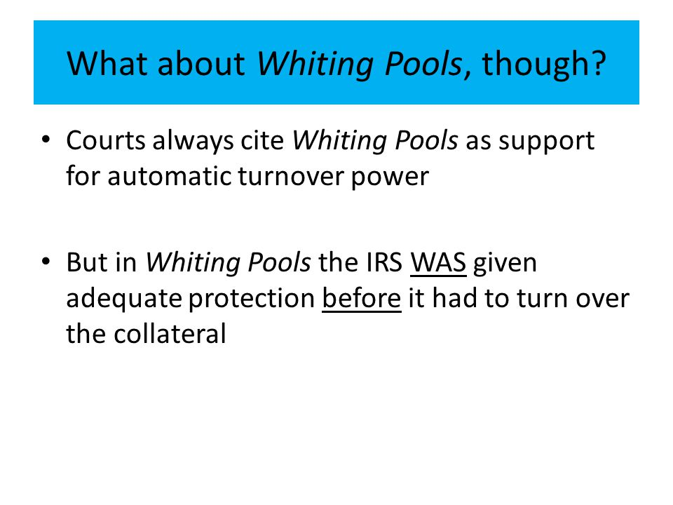 What about Whiting Pools, though