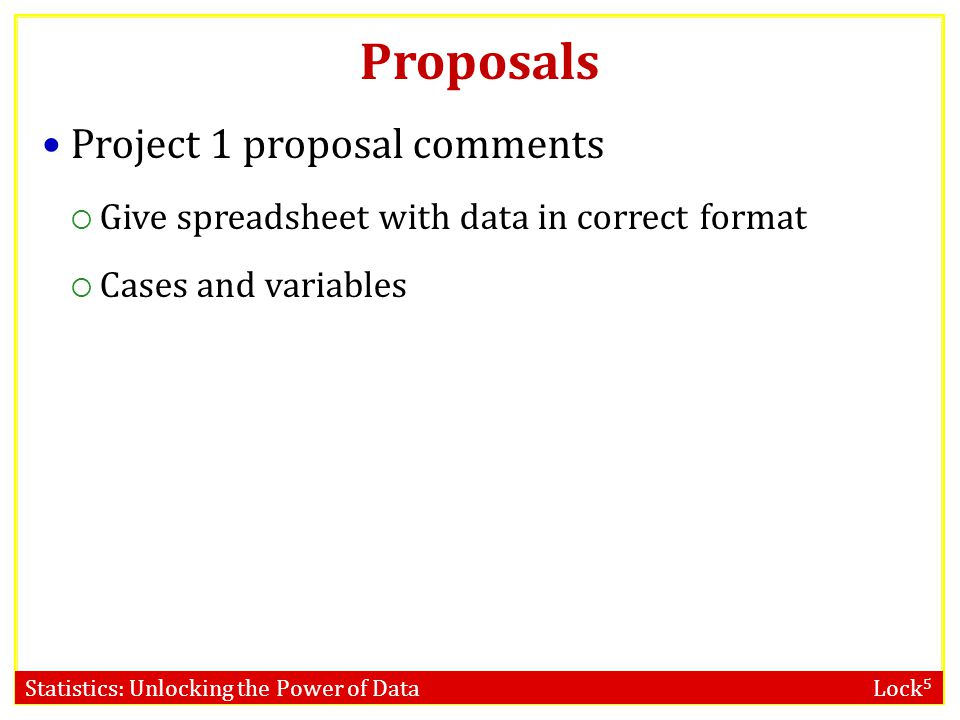 Proposals Project 1 proposal comments