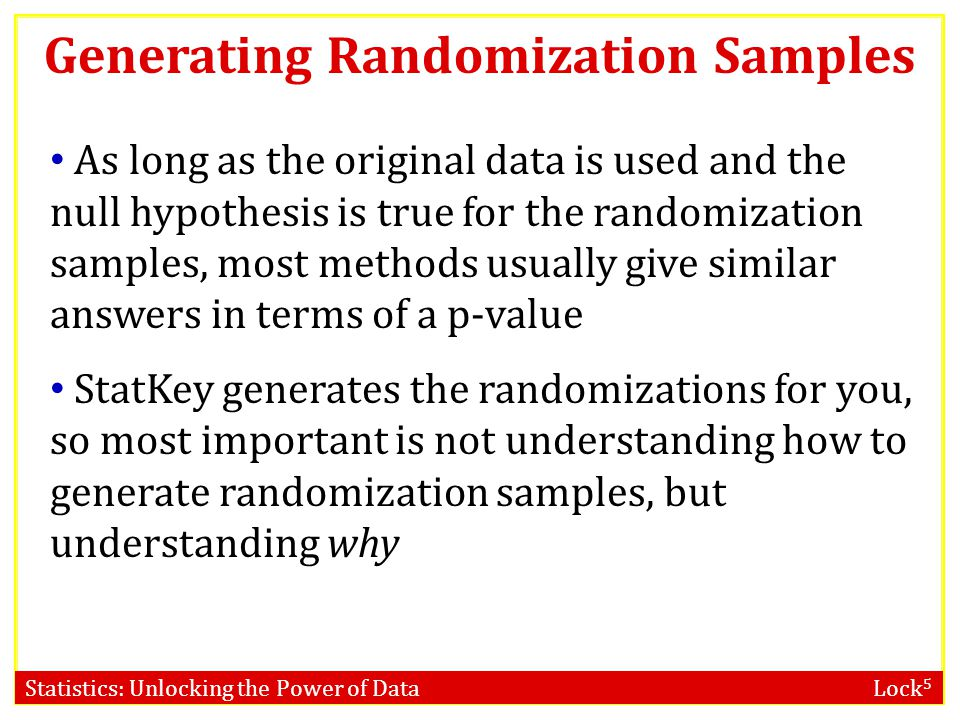 Generating Randomization Samples