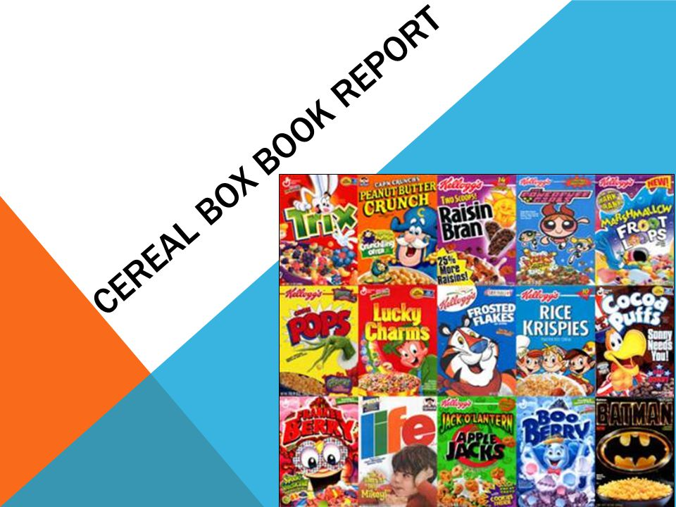 Cereal Box Book Report  Ppt Video Online Download