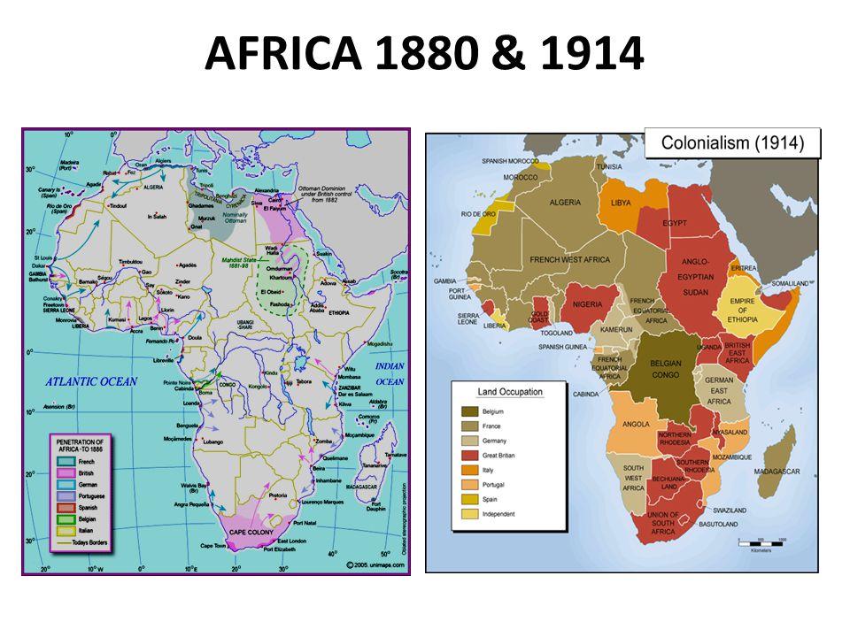 AFRICA 1880 & 1914