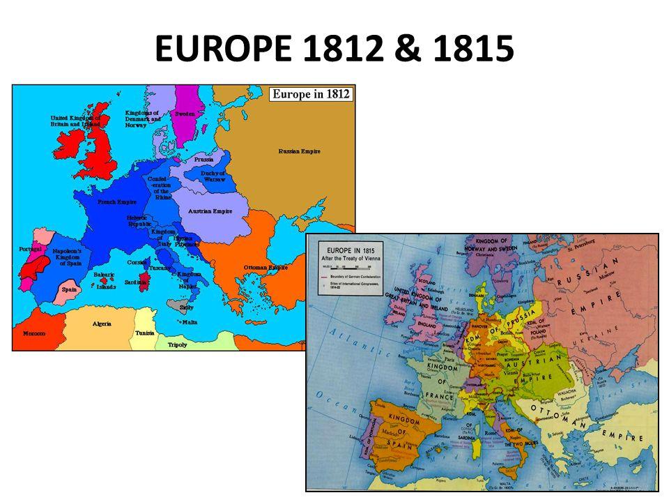EUROPE 1812 & 1815