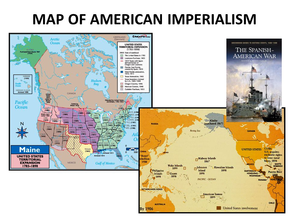 MAP OF AMERICAN IMPERIALISM