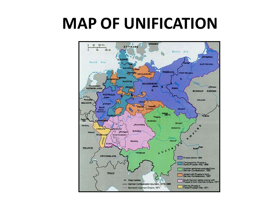 MAP OF UNIFICATION