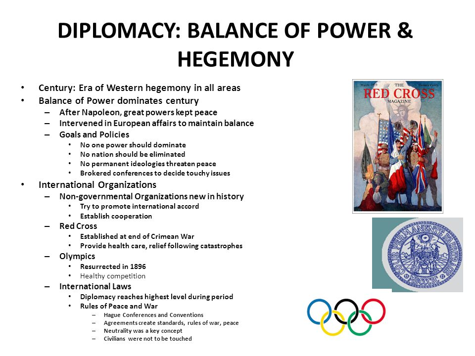 DIPLOMACY: BALANCE OF POWER & HEGEMONY