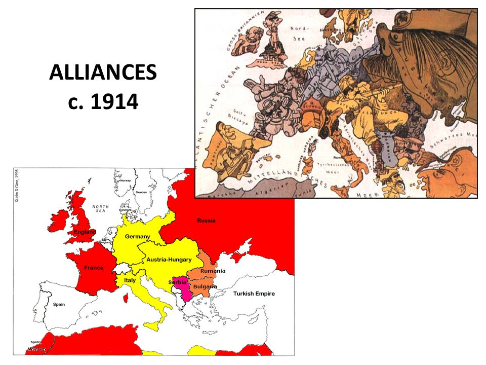 ALLIANCES c. 1914