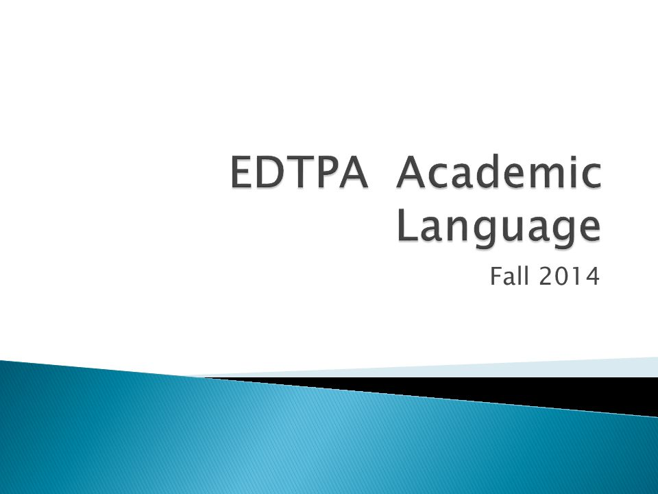 EDTPA Academic Language