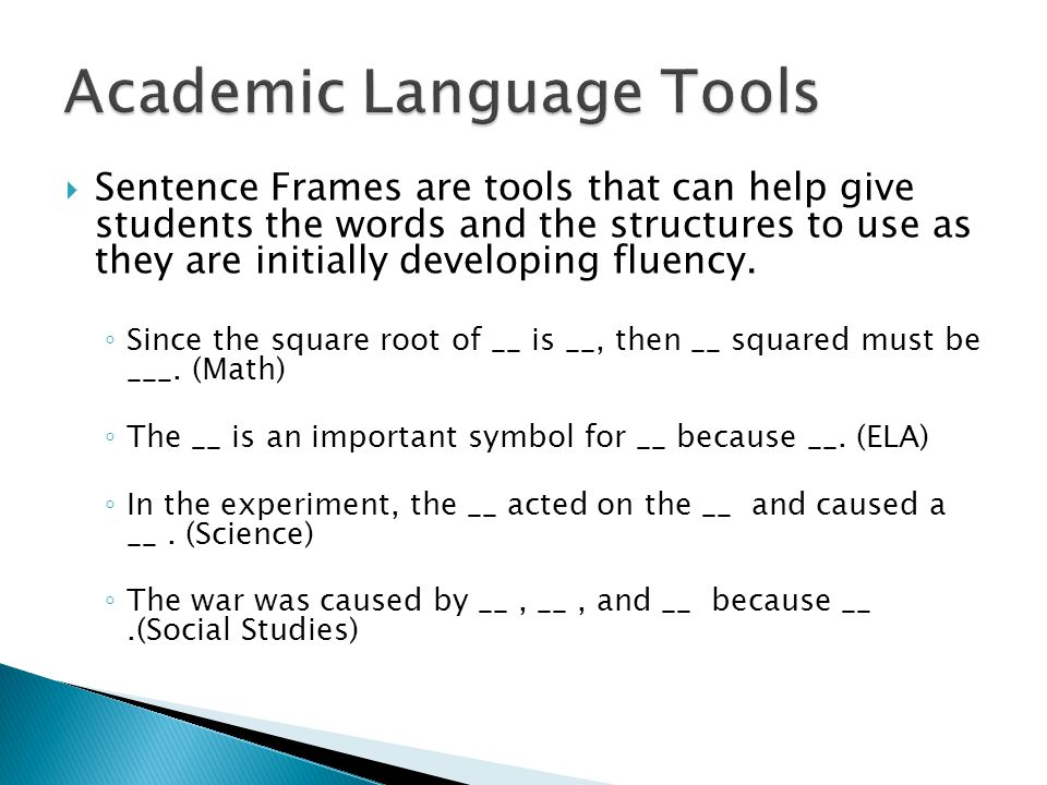 Academic Language Tools
